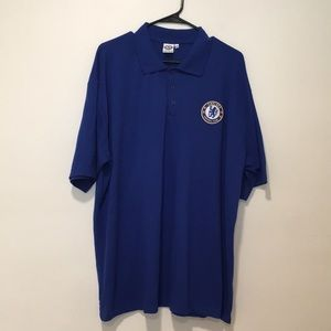 CHELSEA - OFFICIAL CREST POLO ROYAL BLUE